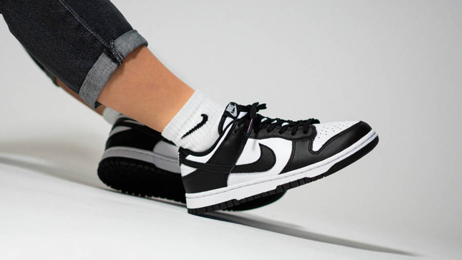 Nike Dunk Low Retro White Black On Foot