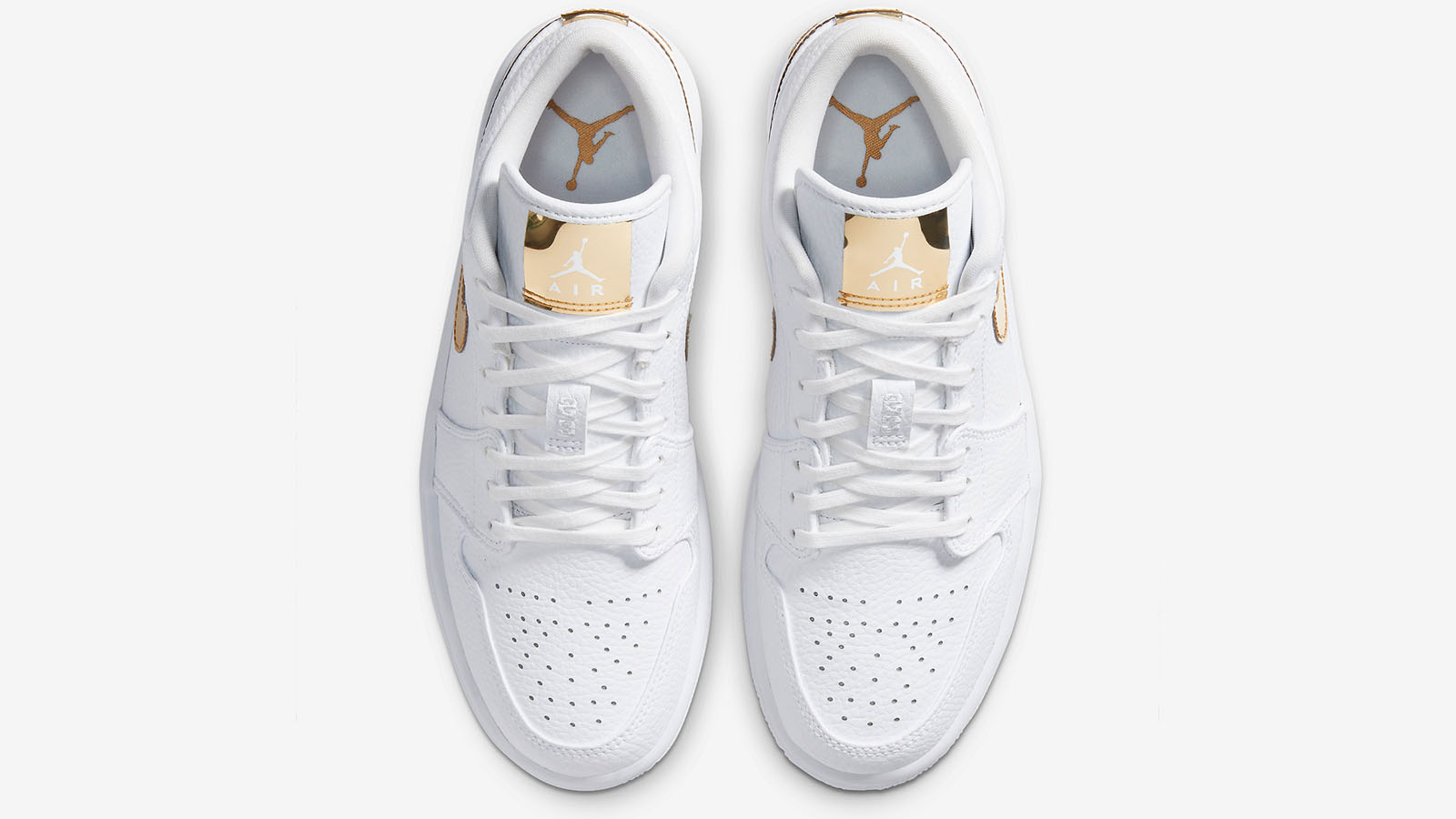 AJ1 low white and gold