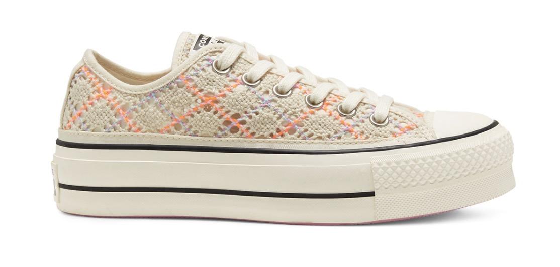 Boho Crochet Platform Chuck Taylor All Star Low Top