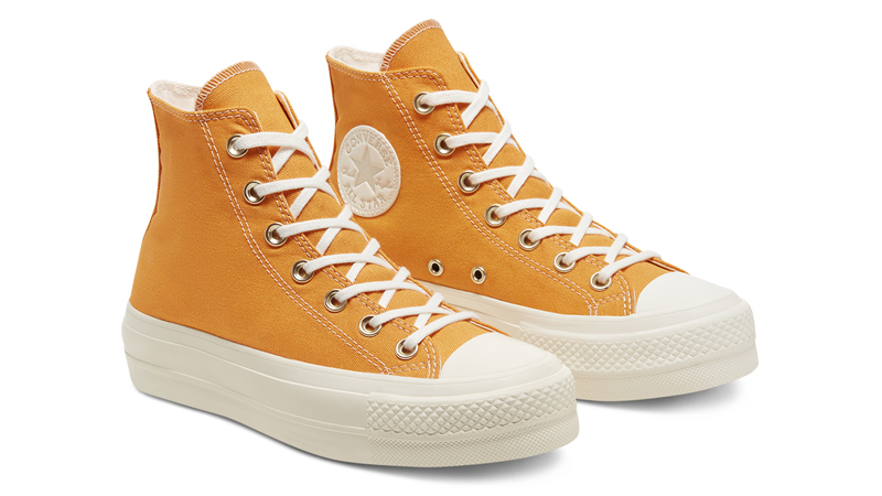 Converse Chuck Taylor All Star Elevated Gold Platform Sunflower Gold Front