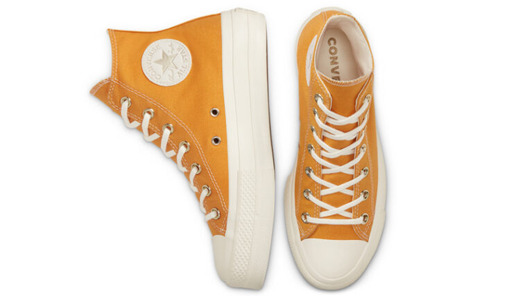 Converse Chuck Taylor All Star Elevated Gold Platform Sunflower Gold Middle thumbnail image
