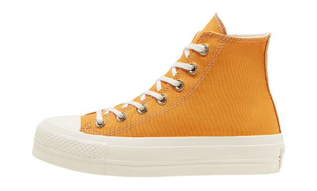 Converse Chuck Taylor All Star Elevated Gold Platform Sunflower Gold