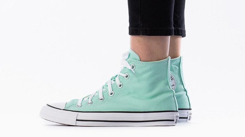 Converse Chuck Taylor All Star Hi Seasonal Colour Ocean Mint On Foot