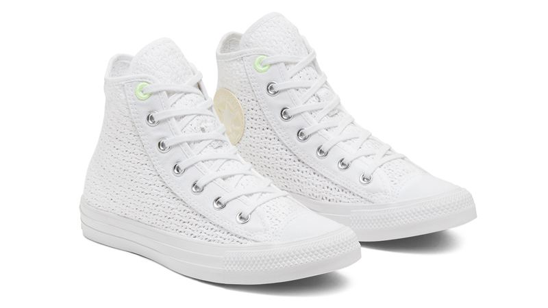 Converse Chuck Taylor All Star High Top Summer Getaway White Barely Volt Front