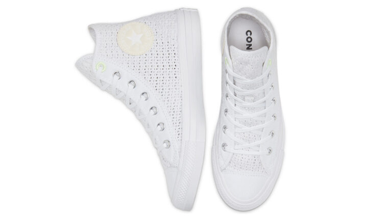 Converse Chuck Taylor All Star High Top Summer Getaway White Barely Volt Middle thumbnail image