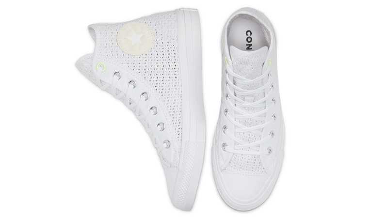 Converse Chuck Taylor All Star High Top Summer Getaway White Barely Volt Middle