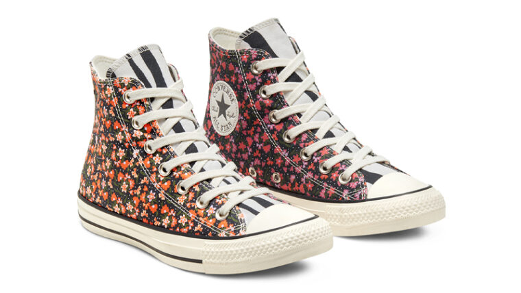 Converse Chuck Taylor All Star High Top Twisted Summer Egret Pink Front thumbnail image