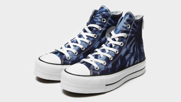 Converse Chuck Taylor All Star Lift High Top Tie Dye Front thumbnail image