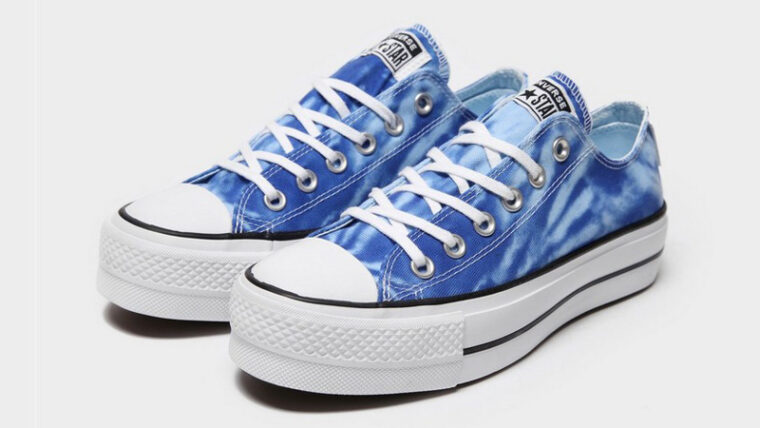 Converse Chuck Taylor All Star Ox 70s Blue Tie Dye Front thumbnail image