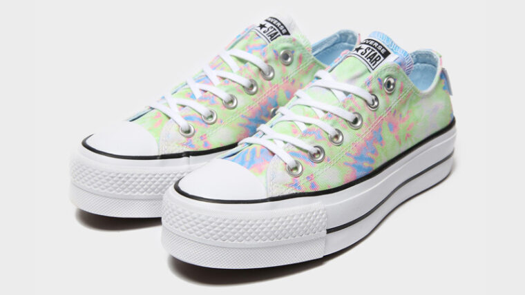 Converse Chuck Taylor All Star Ox Lift Multi Tie Dye Front thumbnail image