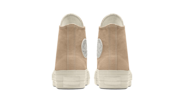 Converse Chuck Taylor All Star Platform High Top Custom Tan Back thumbnail image