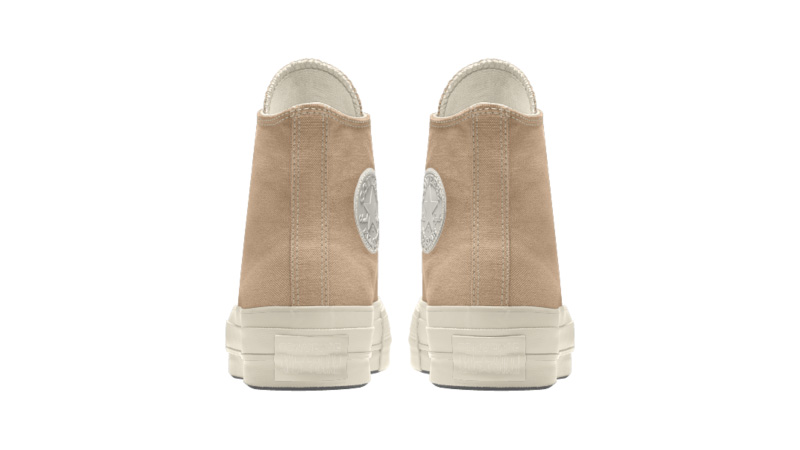 Converse Chuck Taylor All Star Platform High Top Custom Tan Back