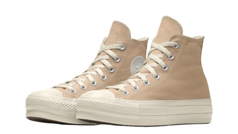 Converse Chuck Taylor All Star Platform High Top Custom Tan Front thumbnail image