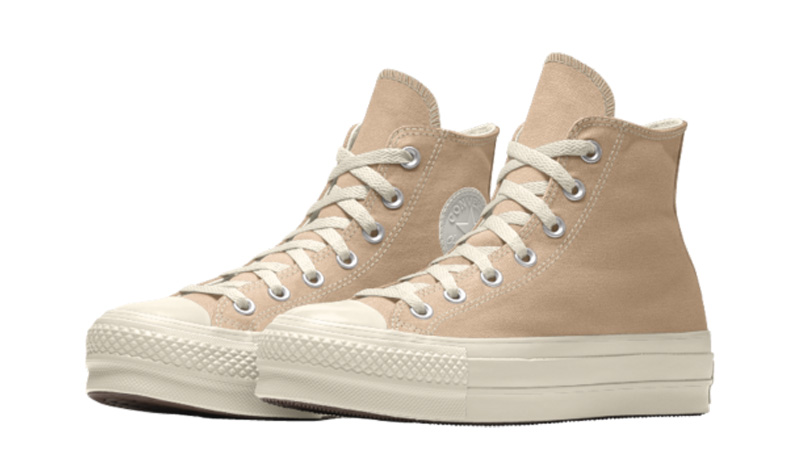 Converse Chuck Taylor All Star Platform High Top Custom Tan Front