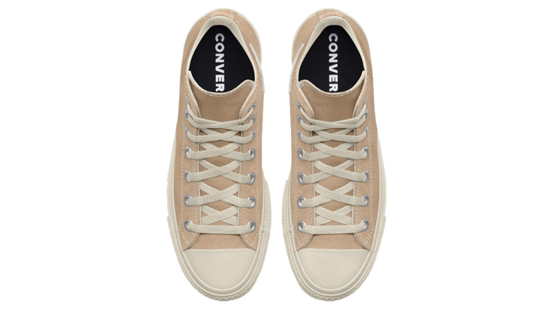 Converse Chuck Taylor All Star Platform High Top Custom Tan Middle