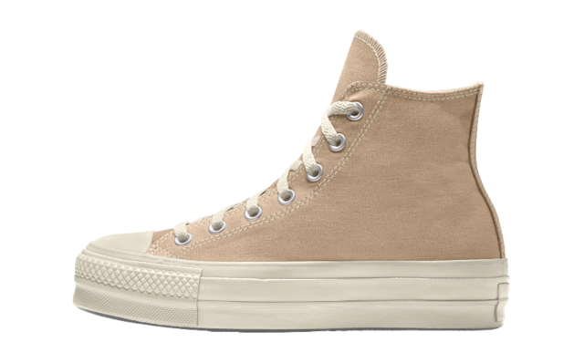Converse Chuck Taylor All Star Platform High Top Custom Tan