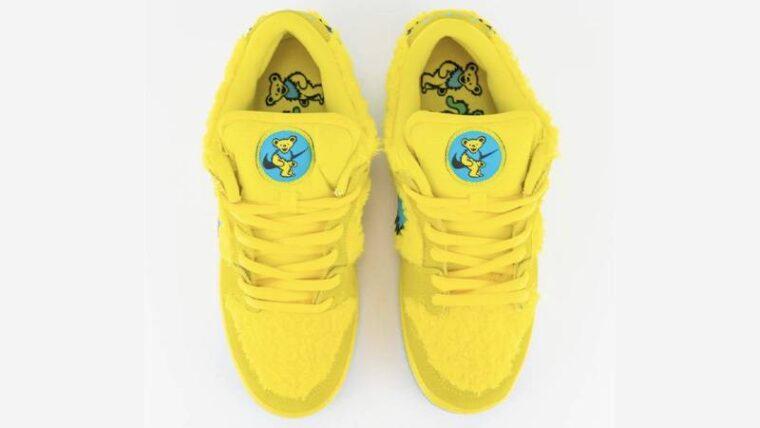 Grateful Dead x Nike SB Dunk Low Opti Yellow Middle thumbnail image