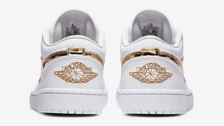 Jordan 1 Low White Metallic Gold Back thumbnail image