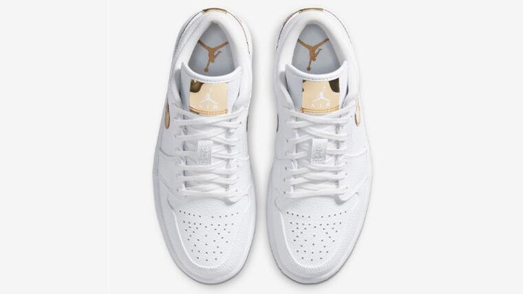Jordan 1 Low White Metallic Gold Middle thumbnail image