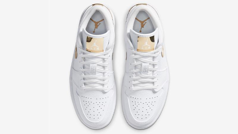Jordan 1 Low White Metallic Gold Middle