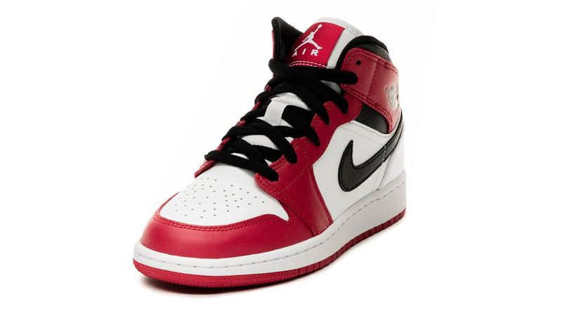 Jordan 1 Mid Chicago 2020 White Gym Red Front