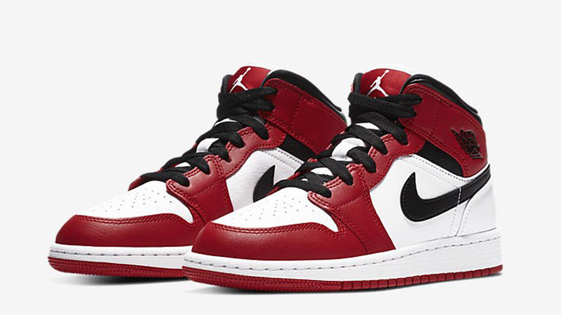 Jordan 1 Mid GS Gym Red Front