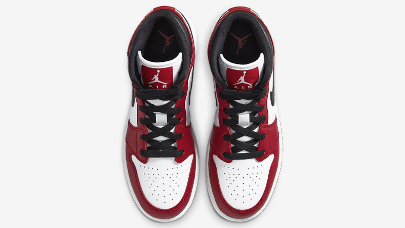 Jordan 1 Mid GS Gym Red Middle