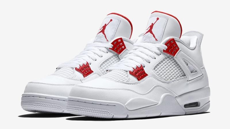 Jordan 4 Metallic Pack White Red | The
