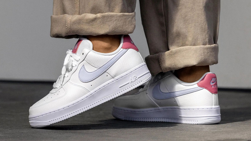 Nike Air Force 1 07 White Desert Berry On Foot