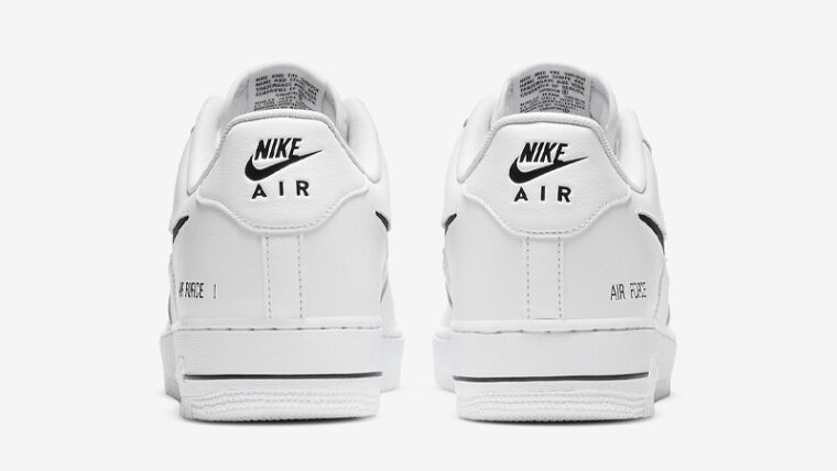 Nike Air Force 1 Low Cut Out Swoosh White Back thumbnail image