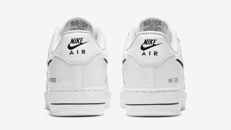Nike Air Force 1 Low Cut Out Swoosh White Back