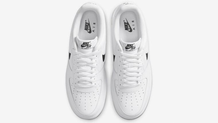 Nike Air Force 1 Low Cut Out Swoosh White Middle thumbnail image