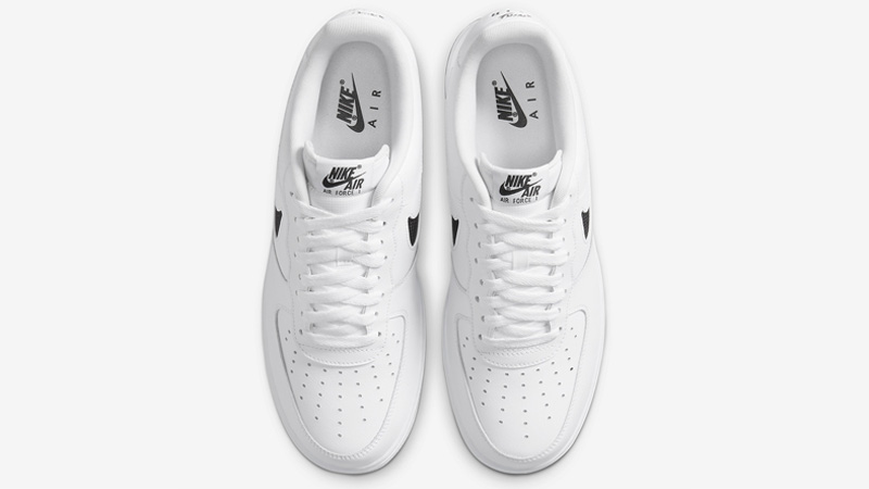 Nike Air Force 1 Low Cut Out Swoosh White Middle