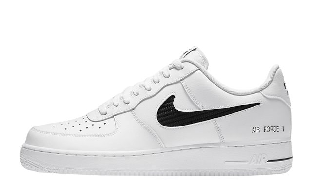 Nike Air Force 1 Low Cut Out Swoosh White