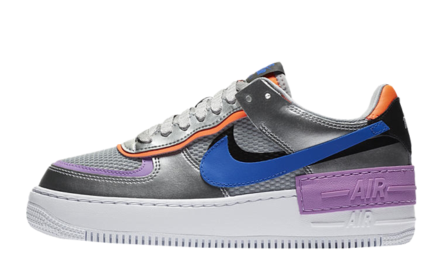 Nike Air Force 1 Shadow Metallic Silver Fuchsia Glow Where To Buy Cw6030 001 The Sole Womens This nike air force 1 shadow comes with an iridescent pixelated swoosh. nike air force 1 shadow metallic silver fuchsia glow