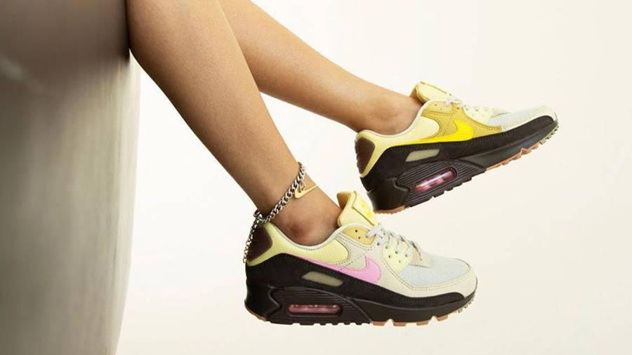 Nike Air Max 90 Cuban Link Velvet Brown Pink | Where To Buy ...
