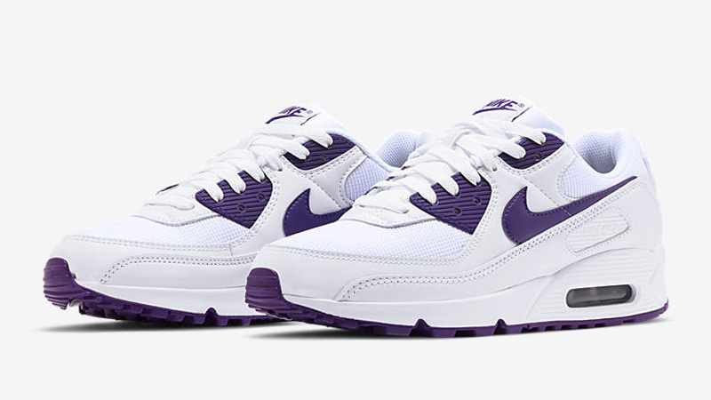 Nike Air Max 90 White Court Purple Front