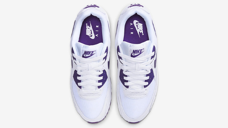 Nike Air Max 90 White Court Purple Middle