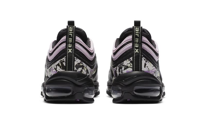Nike Air Max 97 Paint Splatter Black Pink Back