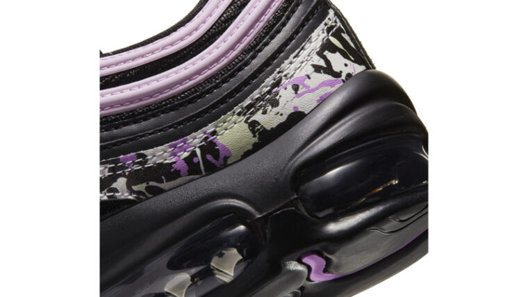Nike Air Max 97 Paint Splatter Black Pink Top Closeup thumbnail image