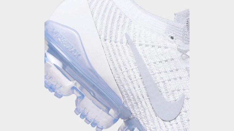 Nike Air VaporMax Flyknit 3 One Of One White Closeup thumbnail image