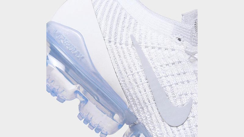 Nike Air VaporMax Flyknit 3 One Of One White Closeup