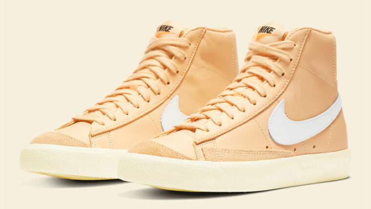 Nike Blazer Mid 77 Butter Canvas Front thumbnail image
