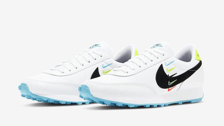 Nike Daybreak Worldwide White Blue Fury Volt Front thumbnail image