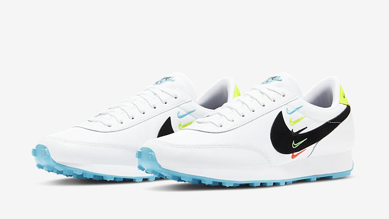 Nike Daybreak Worldwide White Blue Fury Volt Front