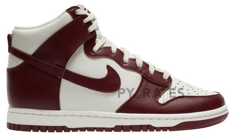 Nike Dunk High Sail Burgundy