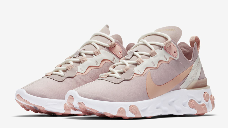 Nike React Element 55 Platinum Violet Front