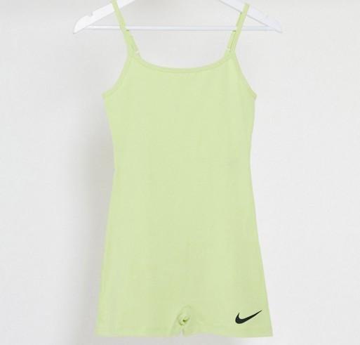Nike swoosh unitard in yellow