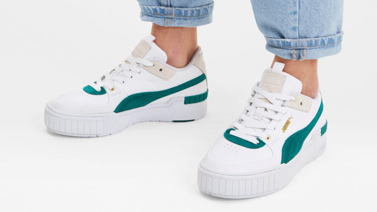 Puma Cali Sport Teal Green On Foot thumbnail image