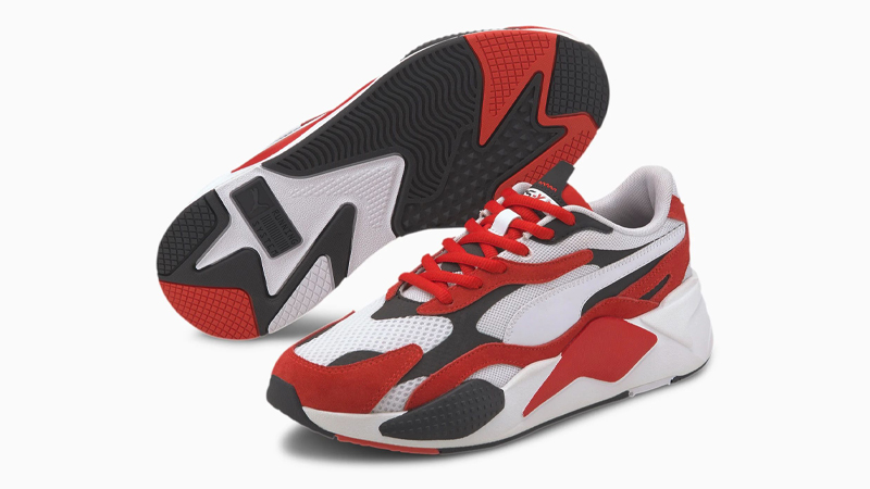 Puma RS-X3 Super White Red Front